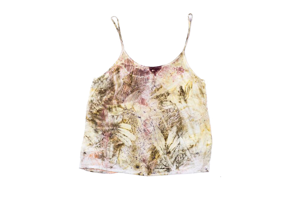 L - Bush Dyed Silk Cami by Annabell Amagula