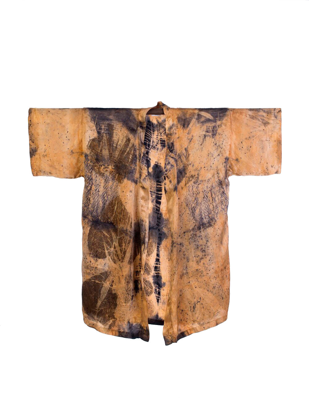 Bush Dyed Silk Robe by Jeanelle Mamarika