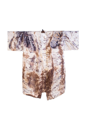Bush Dyed Silk Robe by Deserall Lalara