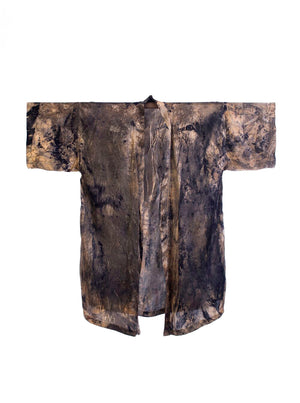 Bush Dyed Silk Robe by Tammy Lalara