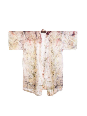 Bush Dyed Silk Robe by Annabell Amagula