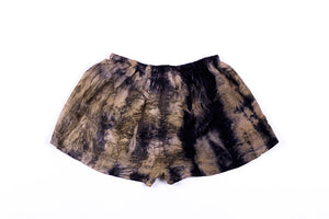 S - Bush Dyed Silk Shorts by Verity Dhamawandji