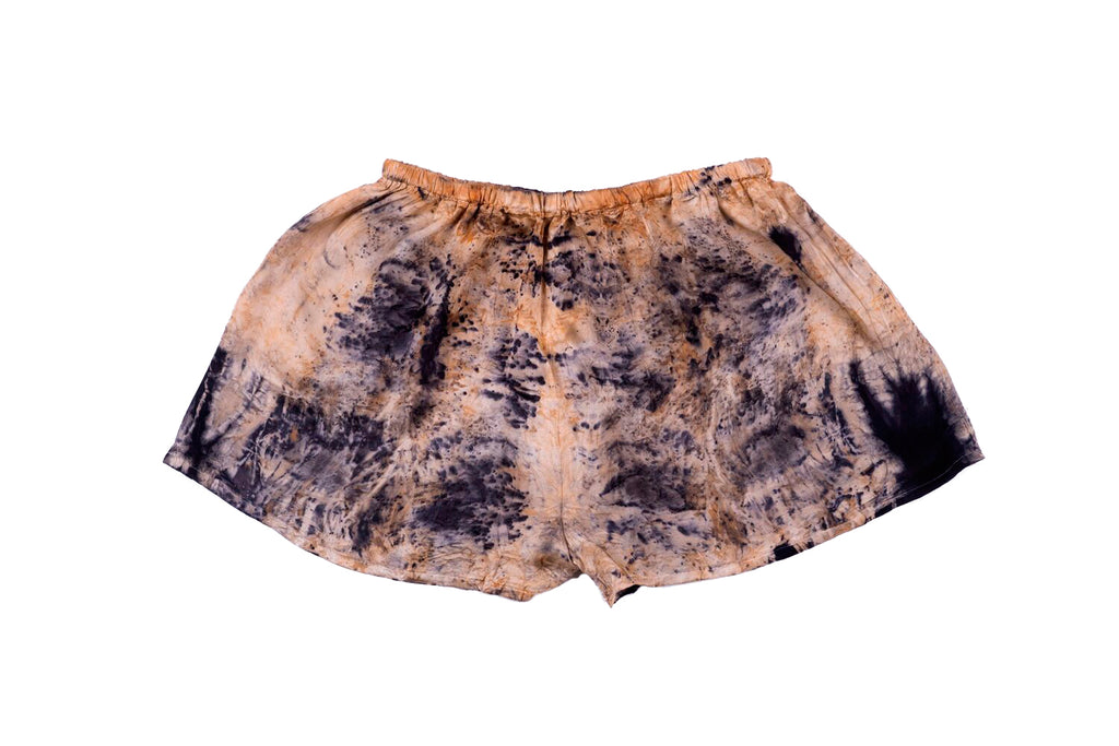 S - Bush Dyed Silk Shorts by Elsie Bara