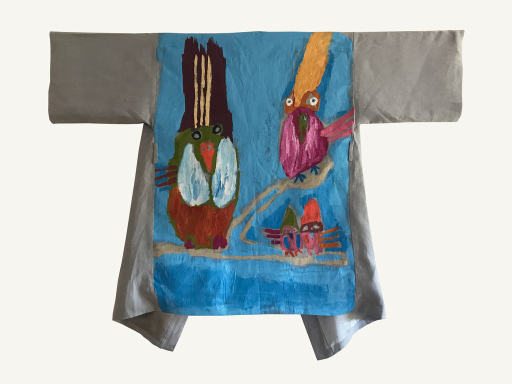 Budgerigar Dreaming Hand Painted Robe