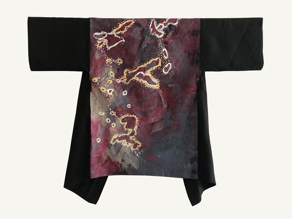 Brush-tail Possum Dreaming Hand Painted Robe