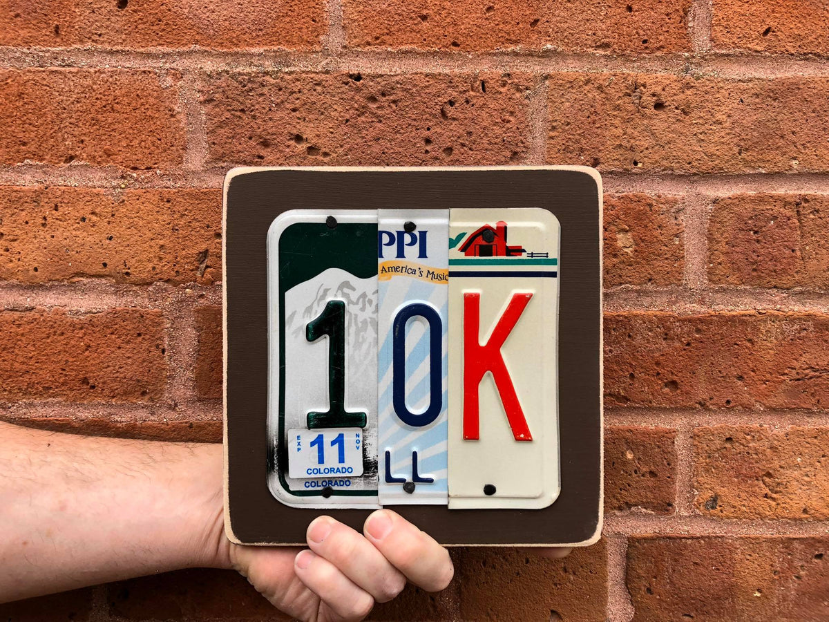 13.1 by Unique Pl8z  Recycled License Plate Art - Unique Pl8z