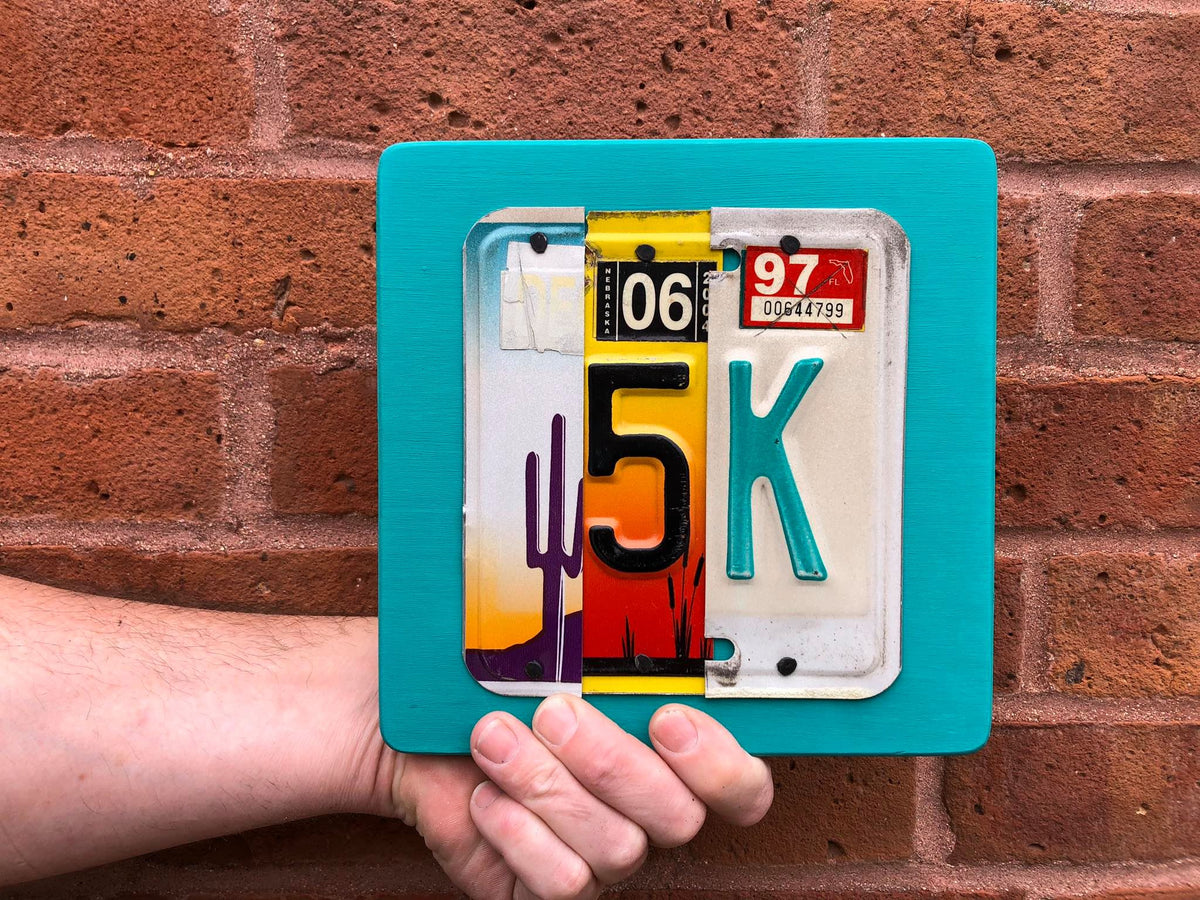 70.3 by Unique Pl8z  Recycled License Plate Art - Unique Pl8z