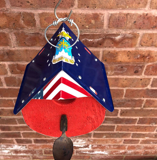 AIR FORCE birdhouse  Recycled License Plate Art - Unique Pl8z
