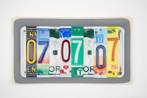 10th Anniversary Gift Idea - 10 year anniversary gift for wife - 10th anniversary gift for husband - Tin Anniversary Gift by Unique Pl8z  Recycled License Plate Art - Unique Pl8z