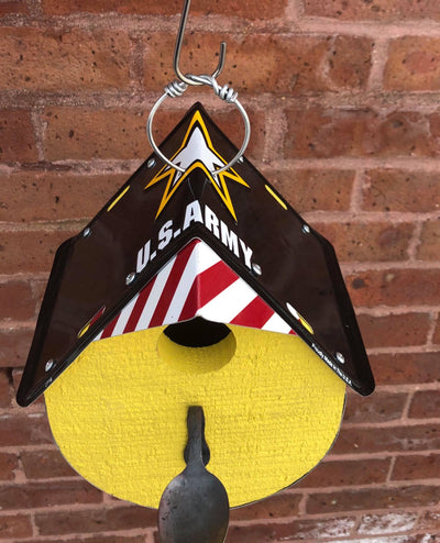 ARMY birdhouse  Recycled License Plate Art - Unique Pl8z