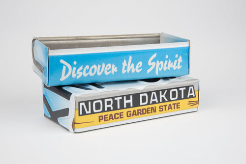 NORTH DAKOTA TRAY  Recycled License Plate Art - Unique Pl8z