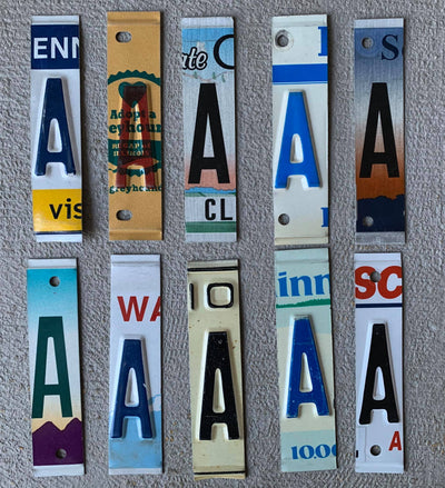 LETTER E  license plate pieces - Unique Pl8z