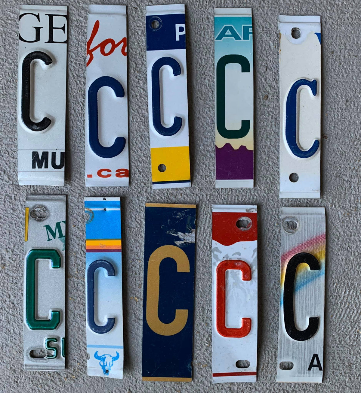 LETTER N  license plate pieces - Unique Pl8z