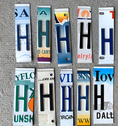 LETTER H  license plate pieces - Unique Pl8z