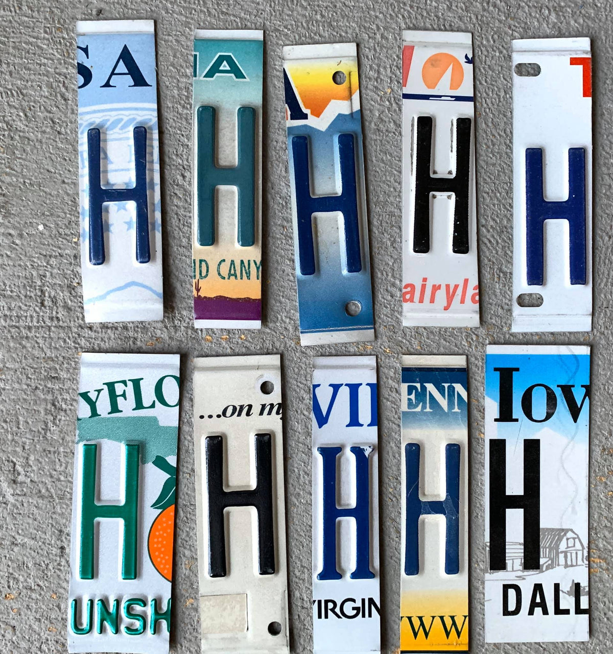 LETTER Z  license plate pieces - Unique Pl8z