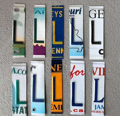LETTER V  license plate pieces - Unique Pl8z