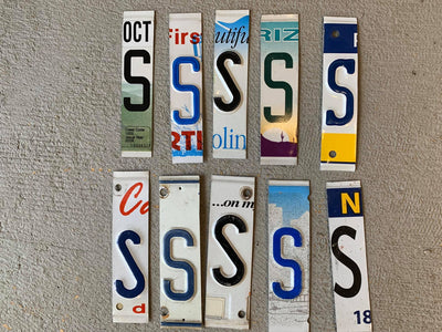 LETTER S  license plate pieces - Unique Pl8z