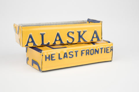 Alaska license plate box - Alaska Souvenir  Recycled License Plate Art - Unique Pl8z