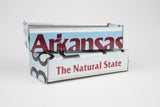 Arkansas license plate box - Arkansas Souvenir  Recycled License Plate Art - Unique Pl8z