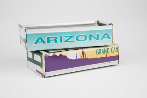 Arizona License Plate Box - Arizona Souvenir  Recycled License Plate Art - Unique Pl8z