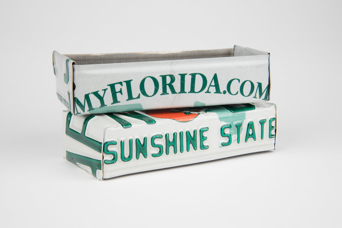 FLORIDA TRAY  Recycled License Plate Art - Unique Pl8z