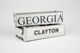Georgia license plate box - Georgia Souvenir  Recycled License Plate Art - Unique Pl8z