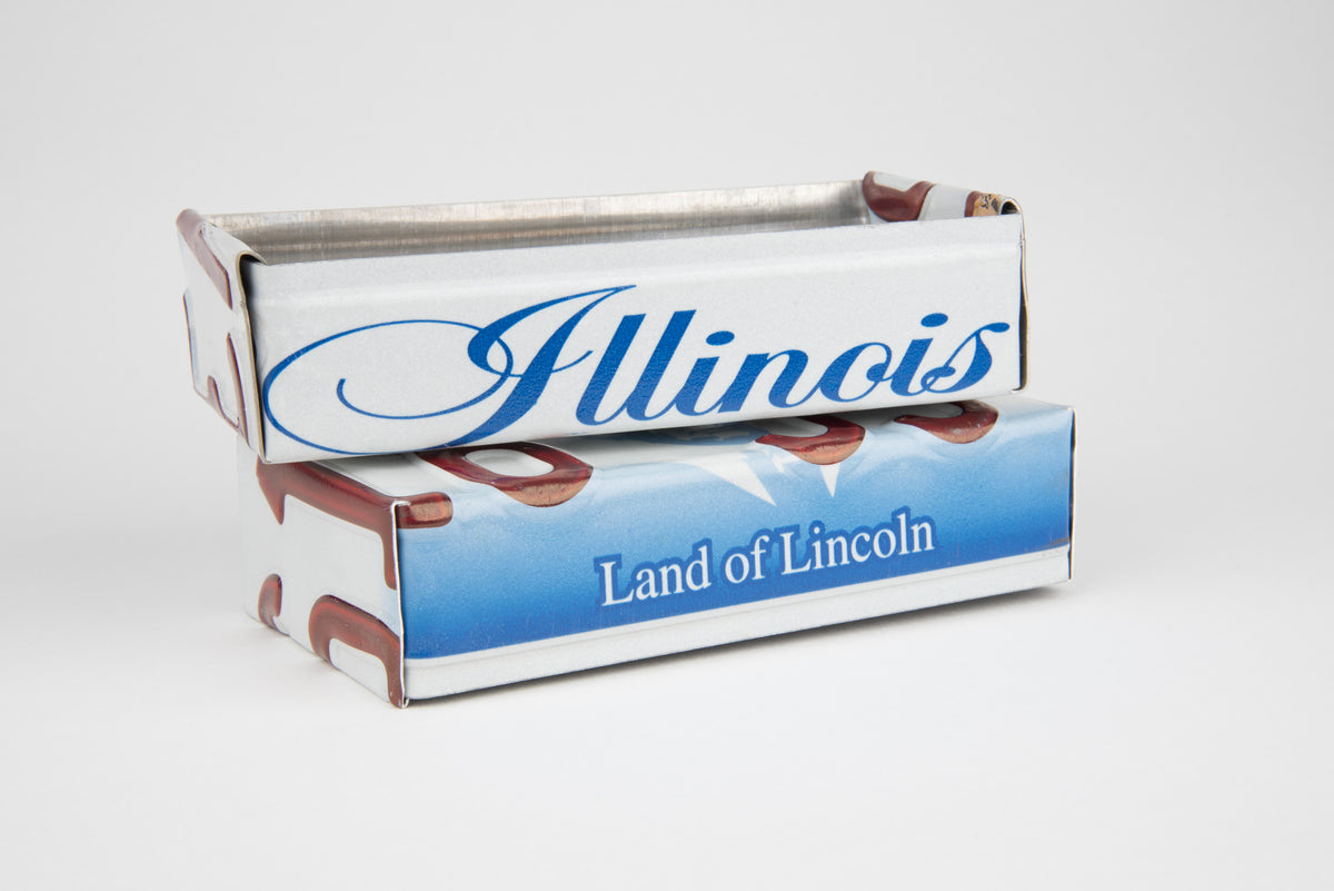 ILLINOIS TRAY  Recycled License Plate Art - Unique Pl8z