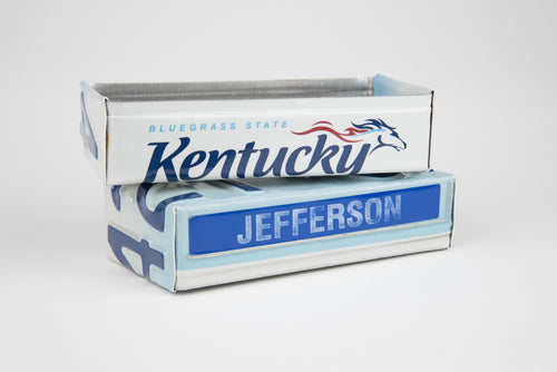 KENTUCKY TRAY  Recycled License Plate Art - Unique Pl8z