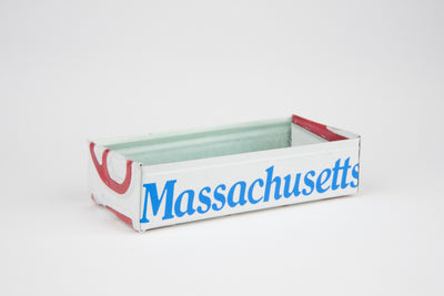 MASSACHUSETTS TRAY  Recycled License Plate Art - Unique Pl8z