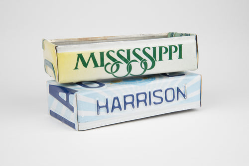 MISSISSIPPI TRAY  Recycled License Plate Art - Unique Pl8z