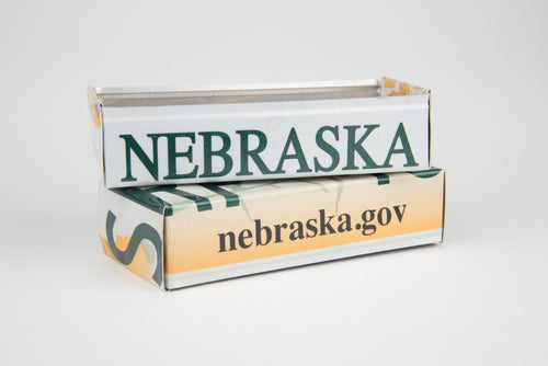 NEBRASKA TRAY  Recycled License Plate Art - Unique Pl8z