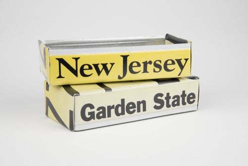 NEW JERSEY TRAY  Recycled License Plate Art - Unique Pl8z