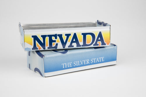 NEVADA TRAY  Recycled License Plate Art - Unique Pl8z