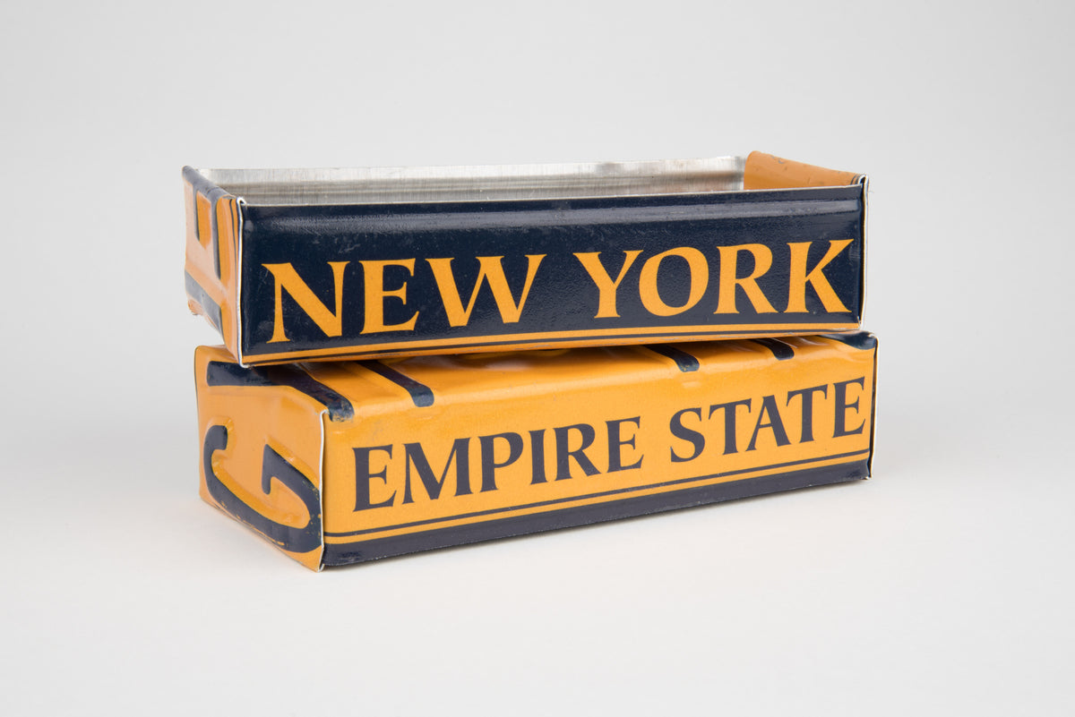 NEW YORK TRAY  Recycled License Plate Art - Unique Pl8z
