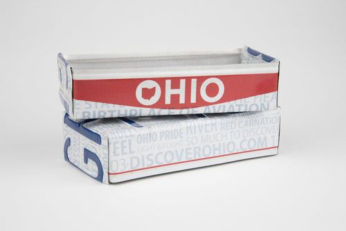 OHIO TRAY  Recycled License Plate Art - Unique Pl8z