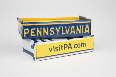 Pennsylvania license plate box - Pennsylvania Souvenir  Recycled License Plate Art - Unique Pl8z