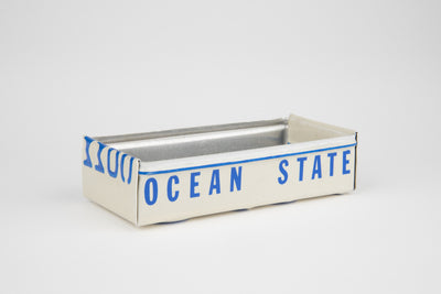 RHODE ISLAND TRAY  Recycled License Plate Art - Unique Pl8z