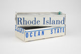 Rhode Island license plate box - Rhode Island Souvenir  Recycled License Plate Art - Unique Pl8z