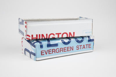 WASHINGTON TRAY  Recycled License Plate Art - Unique Pl8z