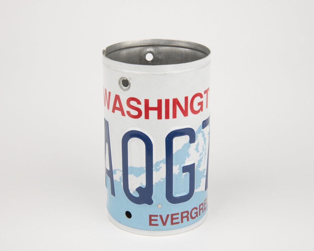 WASHINGTON CANISTER  Recycled License Plate Art - Unique Pl8z