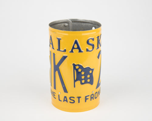 ALASKA CANISTER  Recycled License Plate Art - Unique Pl8z