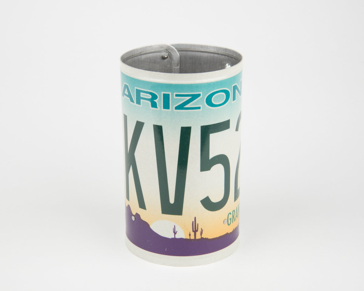 ARIZONA CANISTER  Recycled License Plate Art - Unique Pl8z
