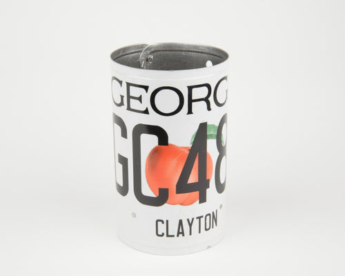 GEORGIA CANISTER  Recycled License Plate Art - Unique Pl8z