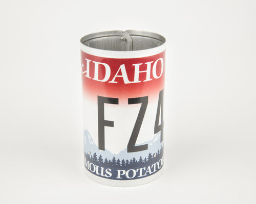 IDAHO CANISTER  Recycled License Plate Art - Unique Pl8z