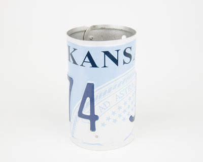 KANSAS CANISTER  Recycled License Plate Art - Unique Pl8z