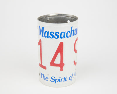 MASSACHUSETTS CANISTER  Recycled License Plate Art - Unique Pl8z