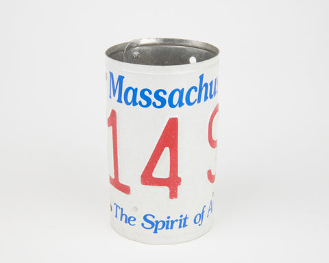 Massachusetts License Plate Pencil Holder- Massachusetts Souvenir - Father's Day gift Idea - Massachusetts Teacher Gift idea - Massachusetts Gift Idea