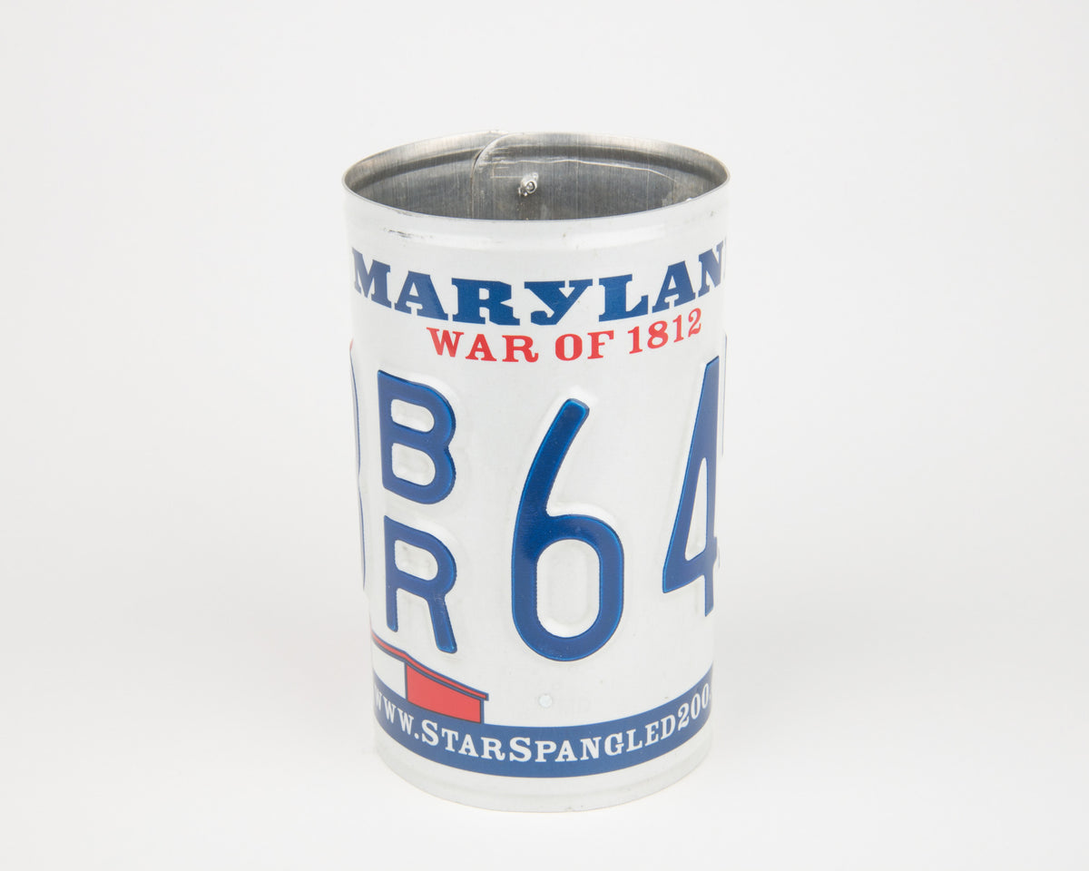 MARYLAND CANISTER  Recycled License Plate Art - Unique Pl8z