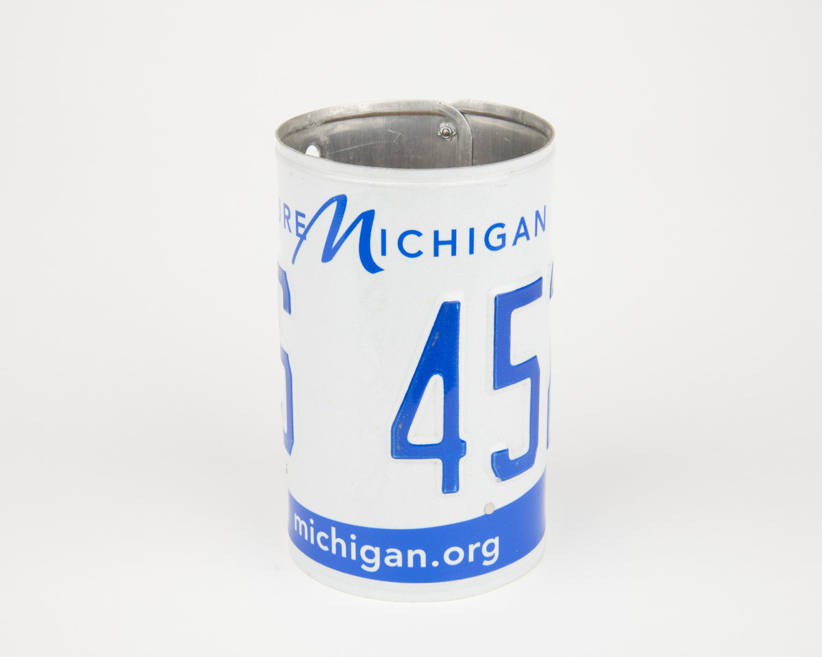 MICHIGAN CANISTER  Recycled License Plate Art - Unique Pl8z