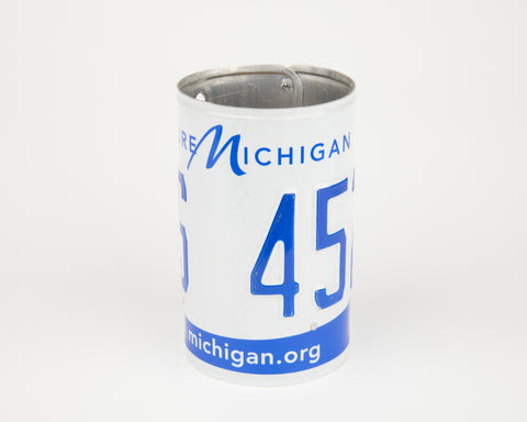 Michigan License Plate Pencil Holder- Michigan Souvenir - Father's Day gift Idea - Michigan Teacher Gift idea - Michigan Gift Idea